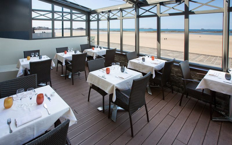 Terasse du restaurant Antinea à SAint-Malo