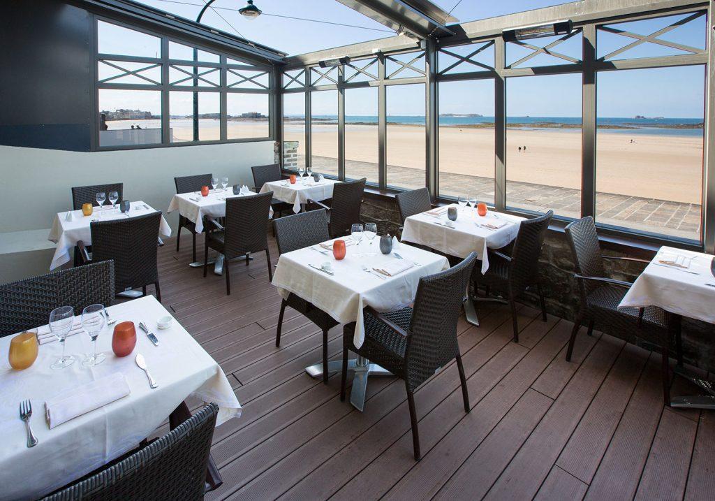 Restaurant avec terrasse vue mer à Saint-Malo